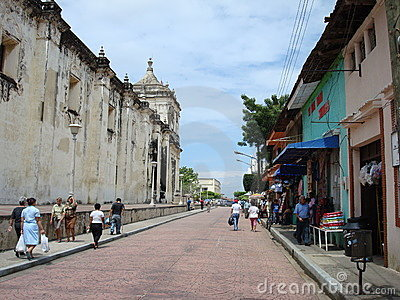 Streets of Leon, Nicaragua Editorial Photography