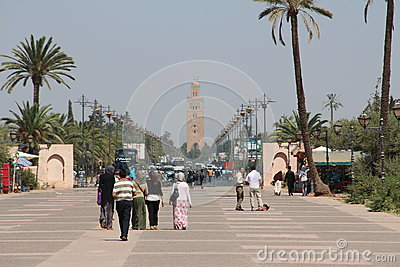 Streets of Marrakesh, Morocco Editorial Photo