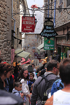 Streets of Mont Saint Michel Editorial Image
