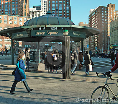 Streets of New York Union Square USA Editorial Photography