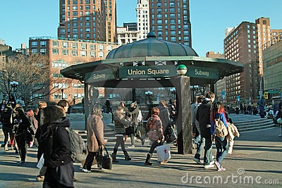 Streets of New York Union Square USA Editorial Stock Photo