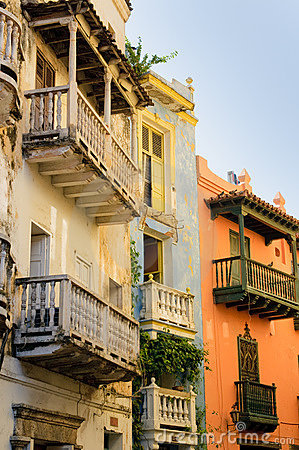 Free Streets Of Cartagena, Colombia Royalty Free Stock Image - 12790996