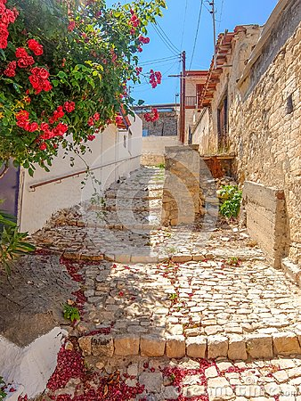 Free Streets Of Cyprus Old Village Stock Images - 108306964