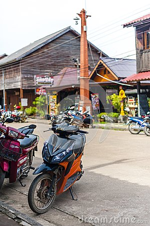 Free Streets Of Old Town In Koh Lanta Stock Photography - 113519702