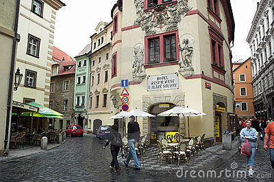 Streets of Old Town Prague Editorial Stock Photo