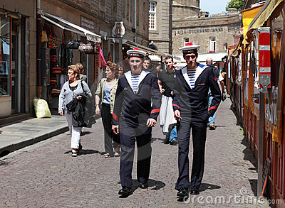The streets of Saint Malo Editorial Stock Image