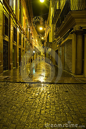 Streets of Sevilla by night