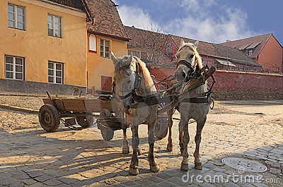 Streets of Sighisoara-Transylvania,Romania