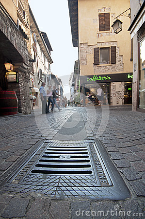 At the Streets of Sirmione Editorial Image