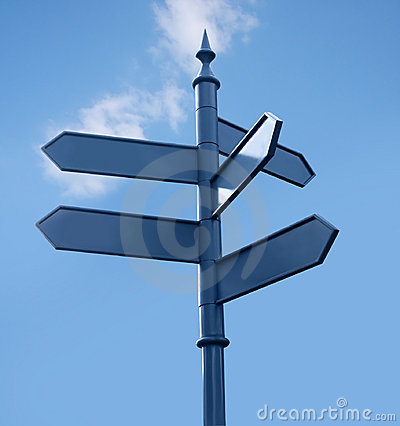 Free Streetsign In The City, 5 Directions, Sky Royalty Free Stock Images - 731449