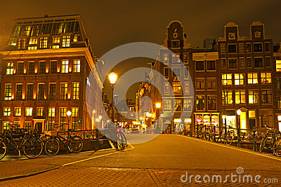 Streetview from Amsterdam in the Netherlands