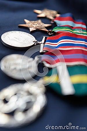 Streifen der Medaillen