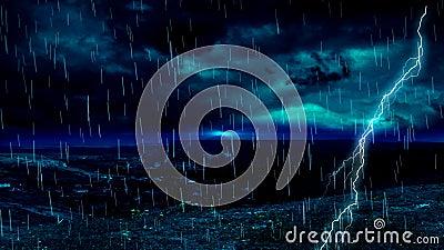 Streifen des Blitzregens