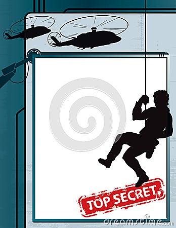 Streng geheim Spion-Hintergrund