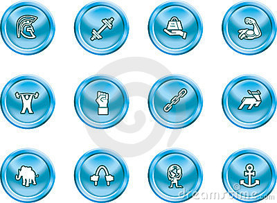 Strength Concept Icon Set