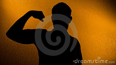 Strength and health - silhouette of man