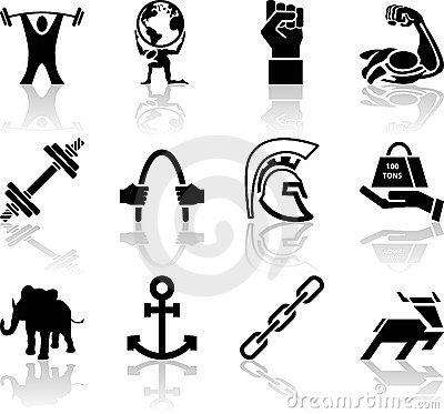 Free Strength Icon Set Series Design Elements Royalty Free Stock Photo - 2008195