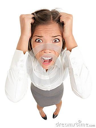 Stres biznesowa kobieta