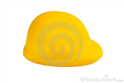 Stress ball in hard hat shape