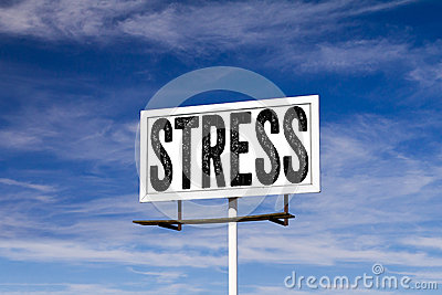 Stress Message on Billboard