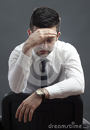 Stressed businessman