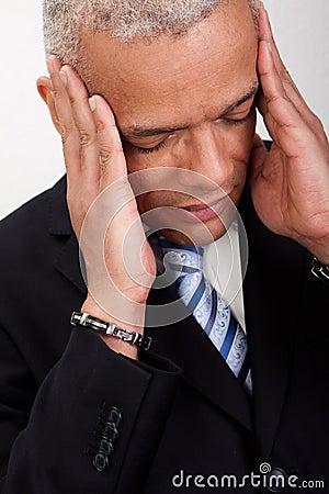 Stressed Businessman Man With Headache