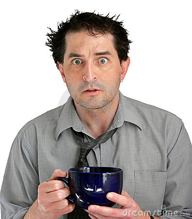 Free Stressed Coffee Guy Royalty Free Stock Photo - 677235