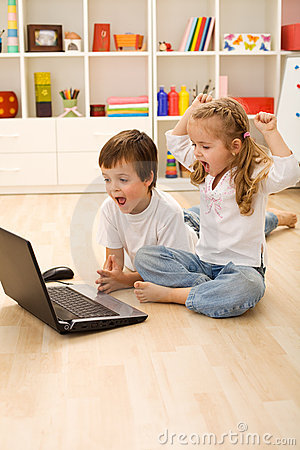 Stressed kids about to win online game