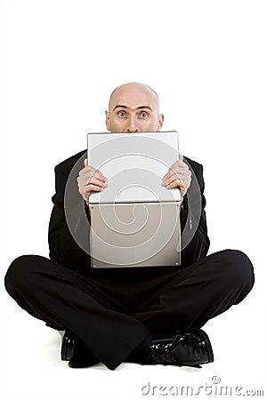 Stressed Man & Laptop