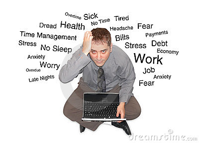 Stressed Out Laptop Man