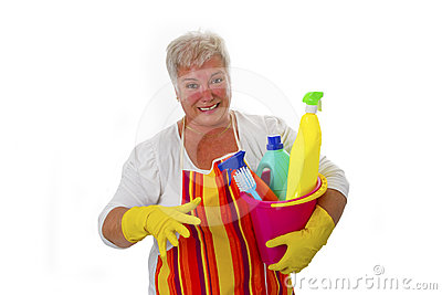 Stressed Senior Housewife Stock Image - Image: 24482941