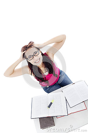 Stressed student caused exams