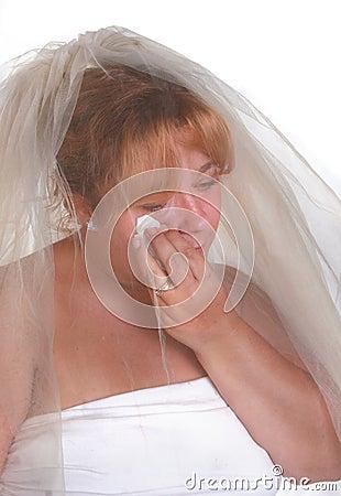 Stressful bride