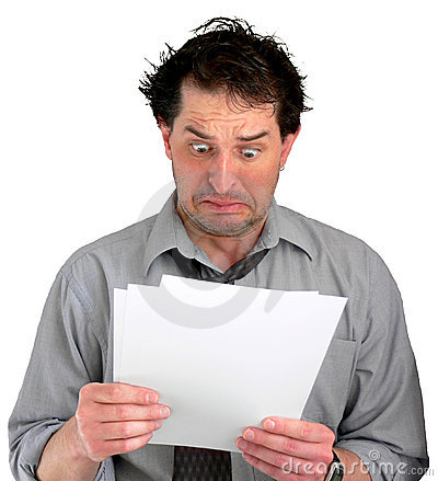 Free Stressful Documents Stock Photography - 677242