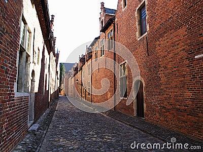 Street in Grand Béguinage in Leuven