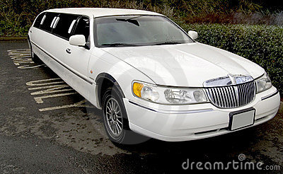 Stretch limo limousine big car