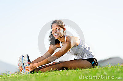Stretching athlete