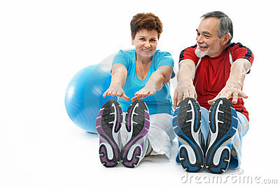 Stretching Exercise Royalty Free Stock Photos - Image: 23267658