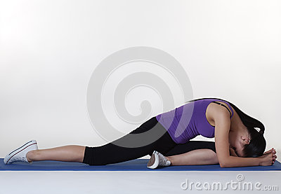 Stretching exercises on a mat
