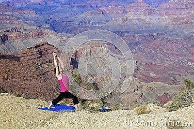 Stretching at Grand Canyon