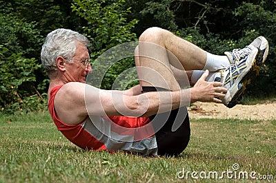 Stretching Man