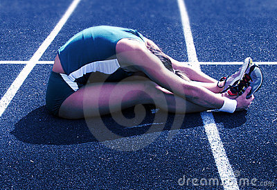 Stretching for the race