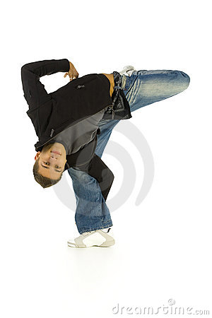 Stretchy Man Royalty Free Stock Photos - Image: 3950618