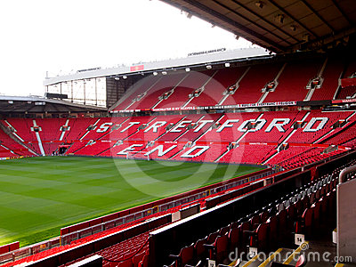 The Stretford End of Old Trafford Stadium Editorial Stock Image