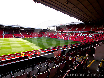 The Stretford End of Old Trafford Stadium Editorial Photography