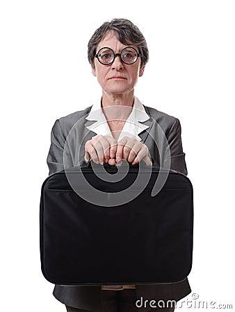 Strict businesswoman