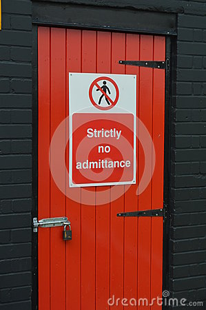 Free Strictly No Admittance Sign. Stock Photos - 72390113