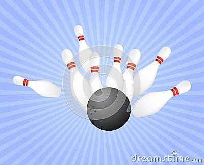 Strike at bowling