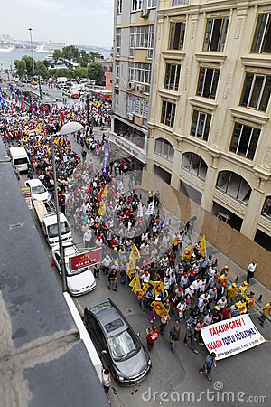 Strike in Istanbul,Turkey Editorial Stock Photo