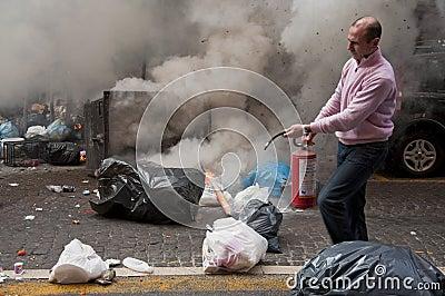 Strike in naples Editorial Stock Image